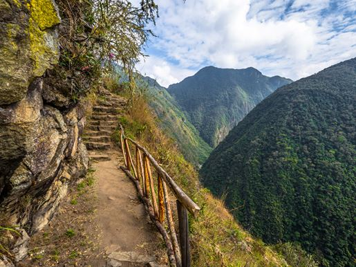 Canva Inca Trail, Peru August 03, 2017 Wild Landscape Of The Inca Trail, Peru