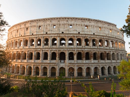 Canva Colosseum At Sunset In Rome, Italy